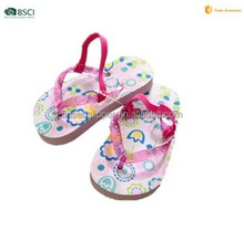 2015 clear PVC flip flop the most cheapest PE material for kids slippers