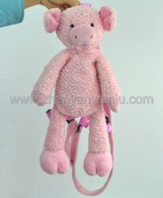 Most popular plush animal pig Backpack for kid from Shenzhen plush toy&stuffed toy Factory