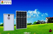 High efficiency low solar panel price flexible 18V85W mono solar panel made by Chinese Zhejiang Ningbo Ring Electronics Co.,Ltd