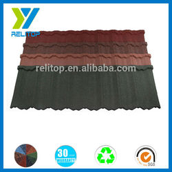 Fire retardant top grade high quality sand coated metal roof tile
