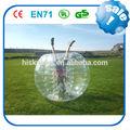 Fácilmente 0.8mm inflable del pvc/tpububble ball traje, burbuja de trajes de fútbol, venta al por mayor bola bolas pozo