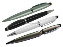 Metal USB Pen, Ballpen with USB Flash Drive, Silvel Metal Ballpoint Pen with USB Flash Drive