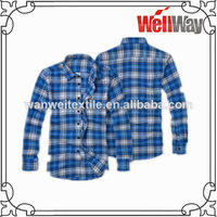 2015 New check design printed cheap flannel shirts