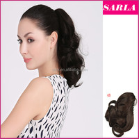 """Wholesale Short Curly Ponytail Hair Extension Synthetic Hairpiece Tail 12"""" 30cm Wholesale Natural Pony Tail Ponytails P004"""