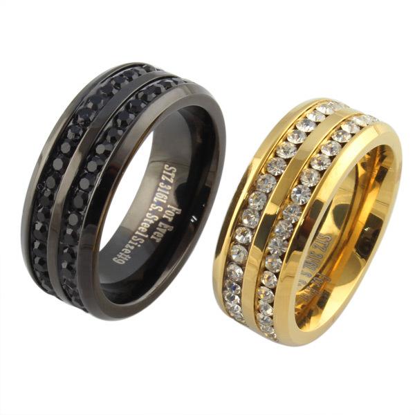 Gold promise ring for men