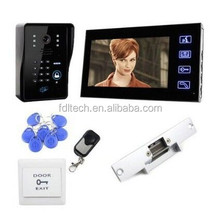 FDL-video door phone 7 inch card long range cordless phone video intercoms