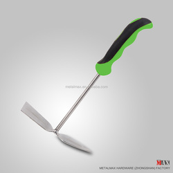 Stainless Steel Plastic Handled Garden Hand Digging Tongue and Hoe