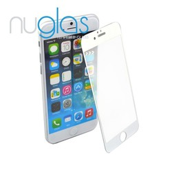 Manufacture of 0.3mm 2.5D Round Edge White Tempered Glass Screen Protector for iPhone 6