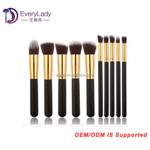 Premium kabuki cosmetic brush set 10 piece makeup tools