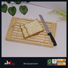 High quality bamboo bread cutting board with bread knife