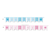 Baby Shower Hanging Paper Flag Garland Decorations