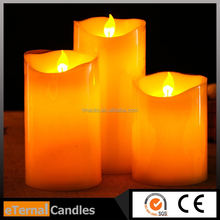 Brand new flameless moving wick wax Led candle with e14 dimmable