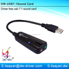 Plug and paly usb sound card for laptop