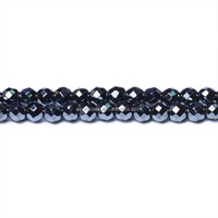 Hematite Faceted Small Round Beads