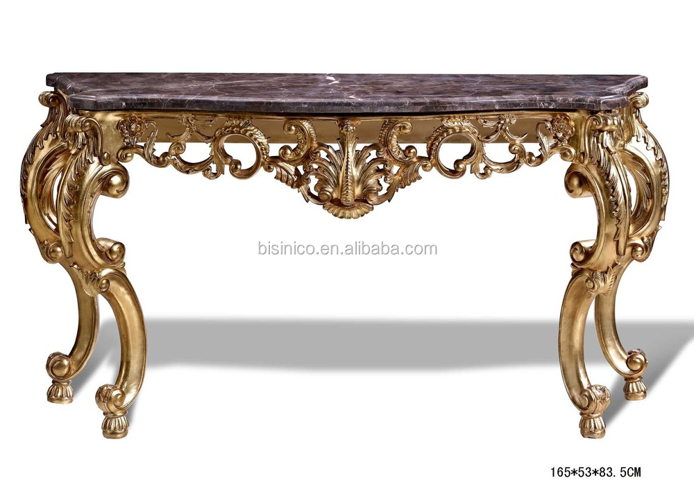 French style vintage luxury hand carved console table