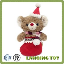 Santa Claus Teddy Bear Toys Christmas Decorations Gift