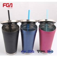 18 Oz Insulated Tumbler With Reusable Straw,clear tumbler with straw