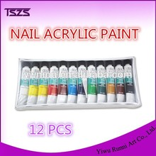acrylic nails 12 color in one set nail art acrylic paint set for nail supplies