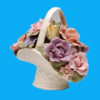 antique beauty handmade painted porcelain flower