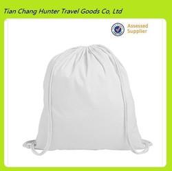 Cheap wholesale durable white cotton drawstring children bag
