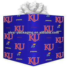Kansas Jayhawks Logo Gift Wrap Paper - Royal Blue