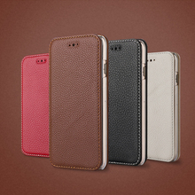 Hot Selling popular Genuine Leather Phone Case for iphone 6s case leather