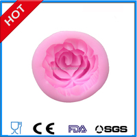 China rose all kinds flowers candle soaps silicone fondant candy molds