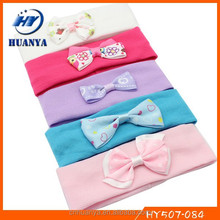 Latest fancy stretch fashion bow tie infant cotton fitness headbands