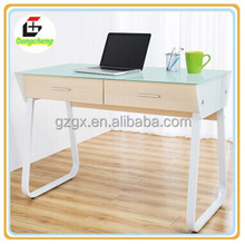 2015 new design glass office table, study table ,home furniture office desk