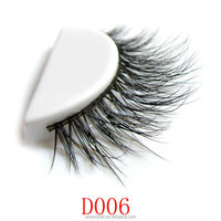 Qingdao wholsale top quality hand made 3d private label false eyelashes