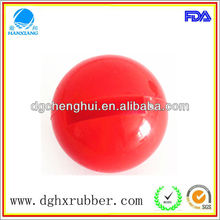sports equipment dongguan/hard rubber ball / small rubber balls for pets/Silicone Ball for toys,juggling,oscillating screen