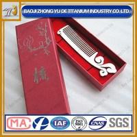 China Style Auspicious Clouds Anti-static Titanium Hair Combs