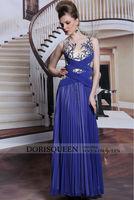 DORISQUEEN Drop ship wholesale new arrivals 2014 floor length sequins elegant chiffon young girls long party dress