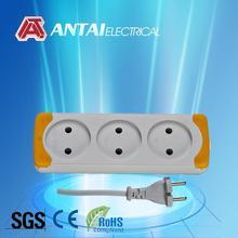 3 ways multiple socket,3 outlet 2 pin power strip