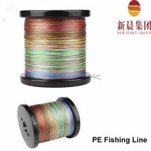 4 strands 1000m rainbow color advanced China pe braided fishing line spectra