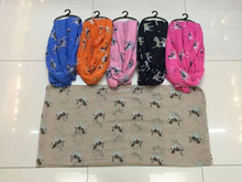 Wholesale Fashion Lovely polyester scarfs Dog printed polyester scarf