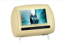 7 inch car dvd headrest monitor with leather cover, Digital TV
