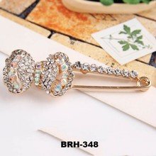 Yiwu Jewelry Muslim Hijab pins Full Crystal Gold Plated Scarf Pin Safety pin Brooches