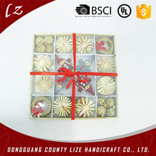 2015 hot sales new product China home crafts holiday decorations Christmas handmade straw ornament