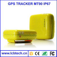MT90 waterproof IP67 Quad band Small Size GPS+LBS Real time Tracking TCP communication Mini GPS/GPRS tracking device