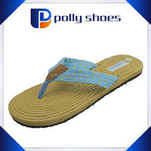promotion eva woven straw flip flops from China
