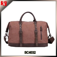 Vintage Military Men Canvas Duffle Bag With Leather handle Manufactuer