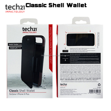 Tech 21 Classic Shell Wallet Flip Leather TPU Phone Case Cover Card Slot Holder for iphone 6