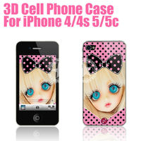 [HANATA] 3D Cute Barbie Mobile Phone Protective Case for iPhone 5c 5s 5 4s 4 Made in China