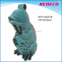 Ceramic porcelain garden frog statue for decoration