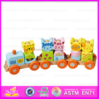 2015 wooden train/car toy/train toy with direct factory price W04A066