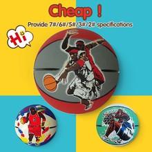 brand competitive big area custom rubber basketball ball