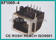 KF1069-4 PCB JACK 8PIN WITH SHIELDING TYPE BLACK