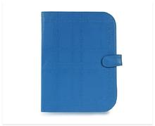 PU Alphabet Print Blue Cellular Phone Case