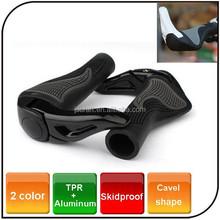2015 hot sell Cavel shape rubber bicycle grip aluminum anti-skid Bike Cycling bicycle Handlebar grip